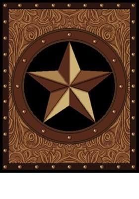 United Weavers 910-04950 Ranch Star Brown