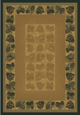 United Weavers 530-43717 Pine Cones Natural
