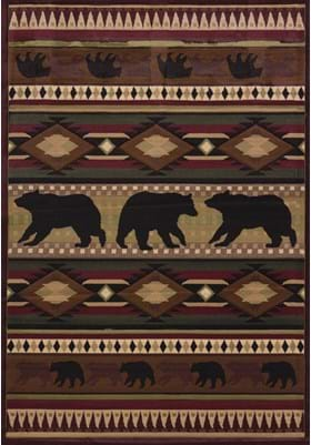 United Weavers 512-25859 Native Bear Toffee