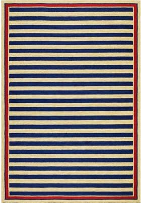 Couristan 3126 Nautical Stripes 0630 Navy Red