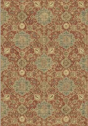 Dynamic Rugs 89665 8262 Rust Blue