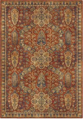 Orian Rugs 4511 Bombay Red