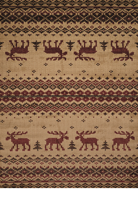 United Weavers 750-05417 Embroided Moose Natural