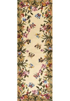 KAS Butterfly Garden 9019 Antique Beige