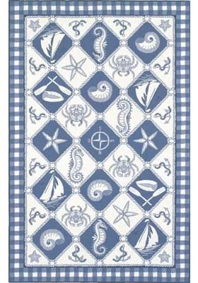 KAS Nautical Panel 1807 Blue Ivory