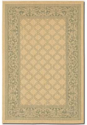 Couristan 1016 Garden Lattice 5016 Green Natural