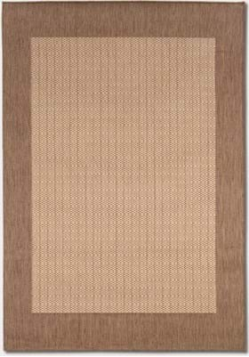 Couristan 1005 Checkered Field 3000 Natural Cocoa