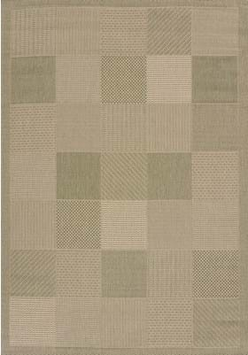 United Weavers 101-40140 Patio Block Green