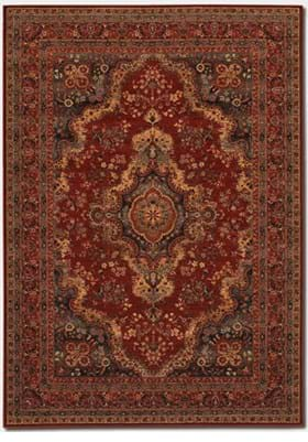 Couristan 1067 Kerman Medallion 3097 Burgundy