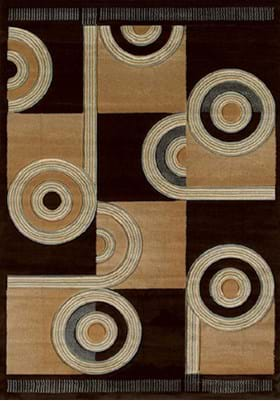 United Weavers 510-22451 Spiral Canvas Chocolate