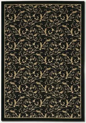 Couristan 2863 Royal Scroll 6214 Ebony