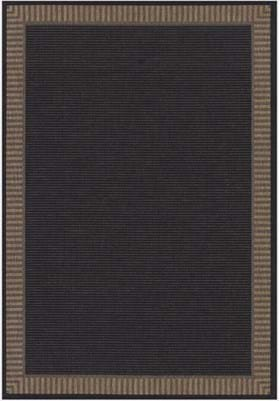 Couristan 1681 Wicker Stitch 2000 Black Cocoa