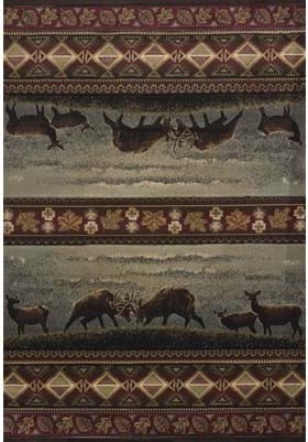 United Weavers 511-27766 Native Landscape Smoke Blue