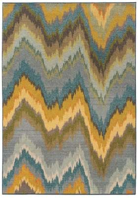 Oriental Weavers 8020G Blue Yellow