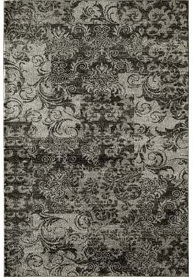 Rugs America 7926A Charcoal Patch