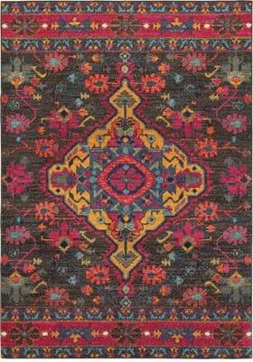 Oriental Weavers 8222D Charcoal Pink