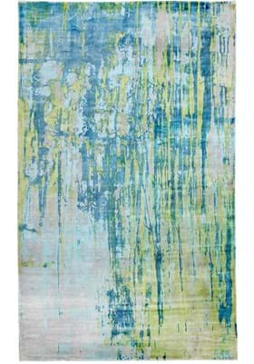 Dynamic Rugs 1604 155 Turquoise Lime