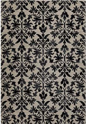 Couristan 6316 Retro Damask 6333 Grey Black