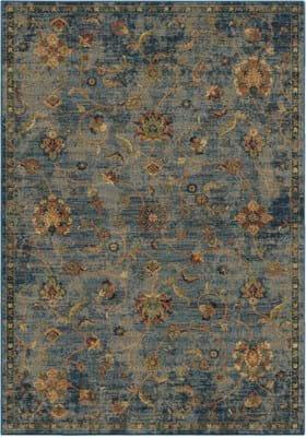 Orian Rugs 4502 Alana Field Blue
