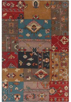 Chandra FUS-26301 Red Blue Beige Brown