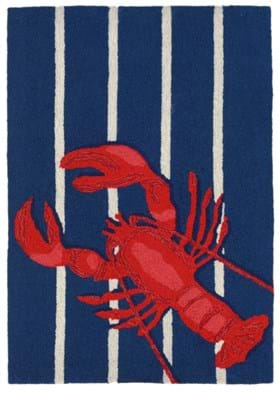 Trans Ocean Lobster On Stripes 159533 Navy
