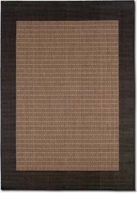 Couristan 1005 Checkered Field 2500 Cocoa Black