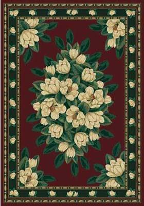 United Weavers 940-37034 Magnolia Burgundy