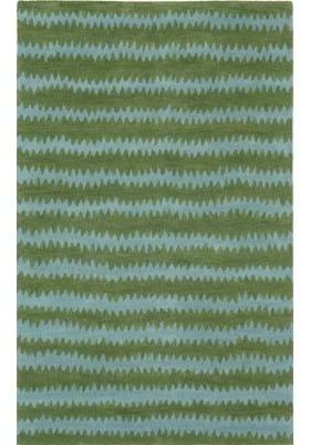 Trans Ocean Ikat Chevron 945016 Green Aqua
