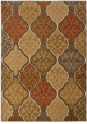 Oriental Weavers 3832 Orange Gold