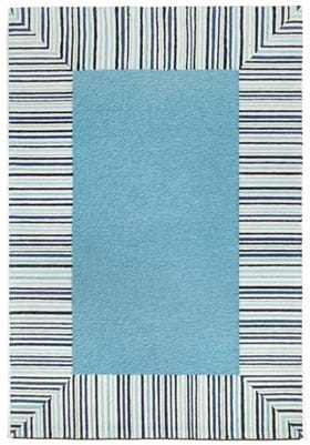 Trans Ocean Pin Stripe Border 225403 Blue