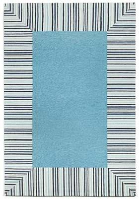 Trans Ocean Pin Stripe Border 225403 Blue