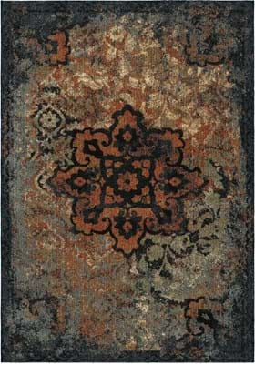 Orian Rugs 4408 Distressed Kirman Sunshine
