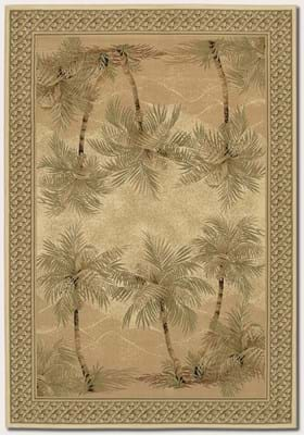 Couristan 2803 Palm Tree 6387 Desert Palm