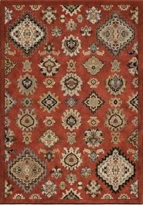 Orian Rugs Larache 3217 Burnt Red