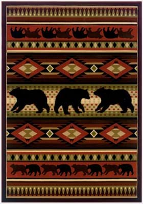 United Weavers 512-25829 Native Bear Terracotta