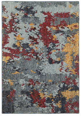 Oriental Weavers 8036C Blue Red