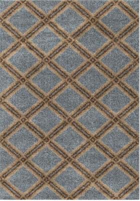 Orian Rugs Concentric Diamonds 3629 Blue