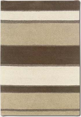 Couristan 2150 Retro Stripe 5000 Linen Beige White
