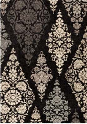 Orian Rugs Trellis Patch 1690 Black