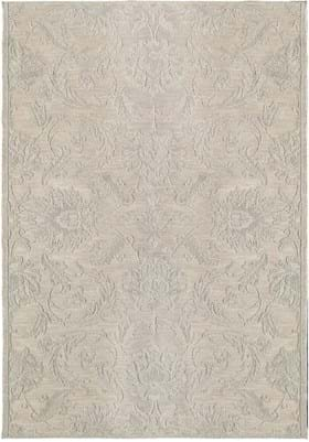 Orian Rugs Textured Damask 3918 Wool Sand