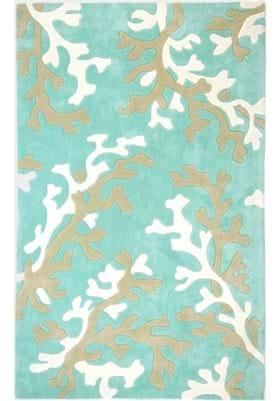 Jaipur Coral Fixation FN06 Turquoise Blue White
