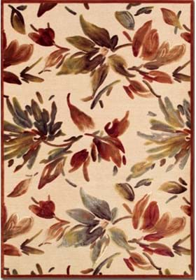 Couristan 1364 Watercolor 6282 Antique Cream Ruby