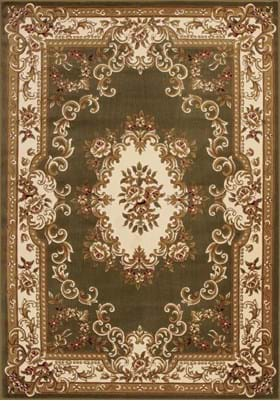 KAS Aubusson 5312 Green Ivory