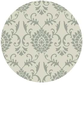 KAS Damask 3500 Ivory Grey