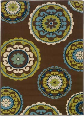 Oriental Weavers 859D6 Brown