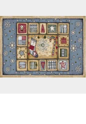 Milliken Holiday Rugs 4533 Patch of Snow 17