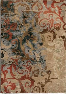 Orian Rugs Distress Scroll 3201 Multi