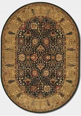 Couristan 0621 Cypress Garden 2596 Black Deep Maple