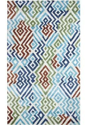 Dynamic Rugs 881000 561 Silver Turquoise