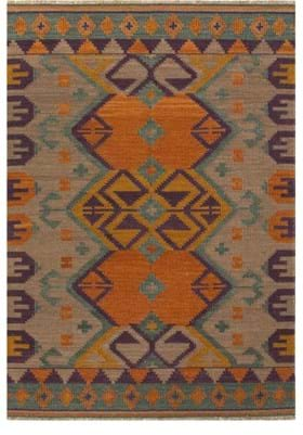 Jaipur Kaliediscope AT07 Warm Tan Faded Teal